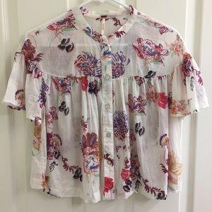 NWOT Free People crop blouse